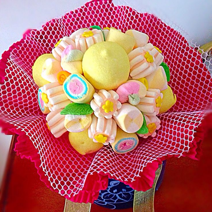 Bouquet di marshmallows.