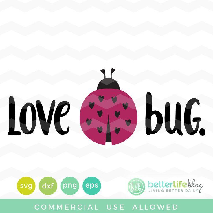Download Love Bug SVG File | Svg file, Love bugs, Bugs
