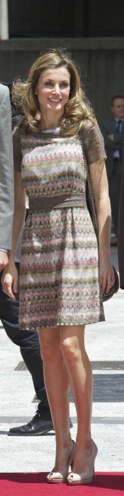 Spain's New Queen Letizia Stuns In Ivory As King Felipe VI Takes Over