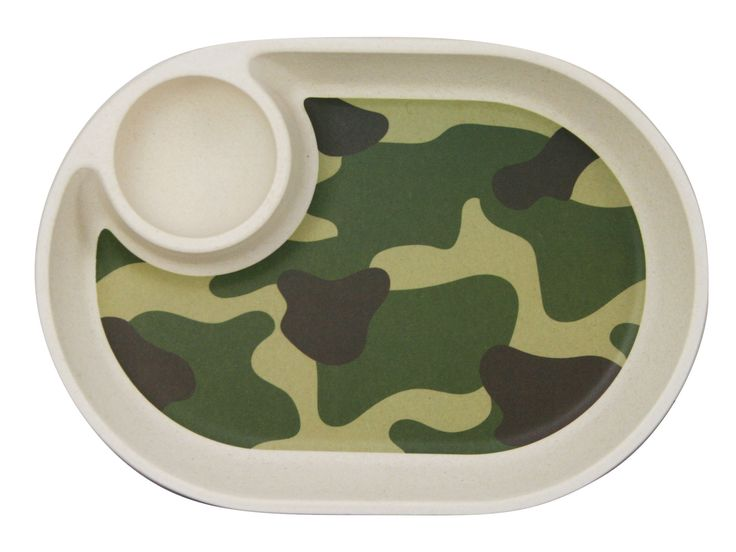 Ecobamboo Ware Babies/Kids/Toddlers Bamboo Small Tray/Plate, Camouflage