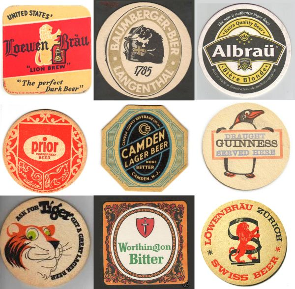 17 Best Images About Beer Mats And Coasters On Pinterest