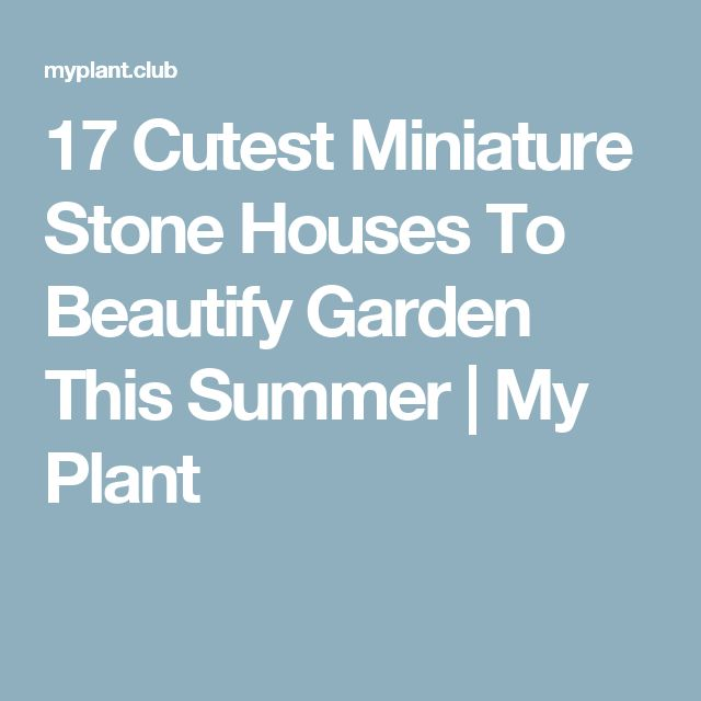 17 Cutest Miniature Stone Houses To Beautify Garden This Summer | My Plant