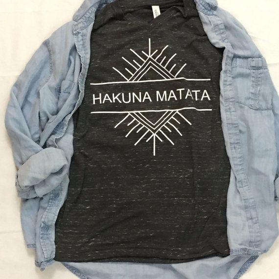 Hakuna Matata Statement Tee Custom Tee by SquirlyGirlzThreads