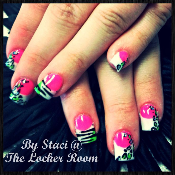 The 10 best images about nailshair on pinterest green feathers hot pink and lime green nails with tiger and cheetah print prinsesfo Choice Image