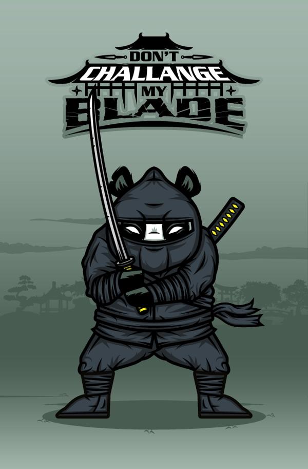 """DOKU"" The Giant Panda  NINJA  Don't challange my blade."