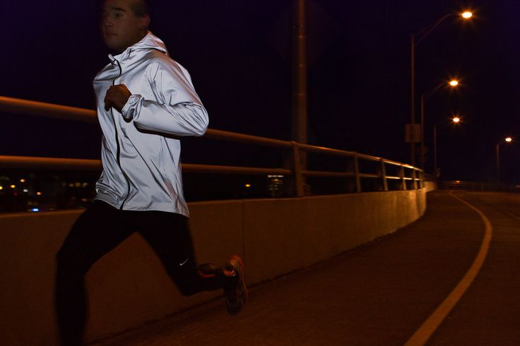 Night running for Nike reflective gear and safety by sport action photographer Anthony Georgis   www.anthonygeorgis.com