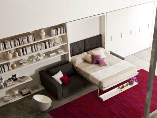 Bildresultat för inbyggd säng garderob