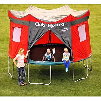 tent, trampoline, trampolines, clubhouse, club house