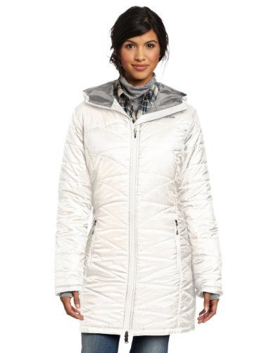Columbia Women's Mighty Lite Hooded Jacket by Columbia. $140.00. Omni-Shield advanced repellency. Zip close pockets. Polyester. Omni-Heat thermal reflective and insulated. Beautiful geometric baffling lends a feminine feeling while the Omni-Heat thermal reflective lining and insulation keep you warm when the wind-chill drops.