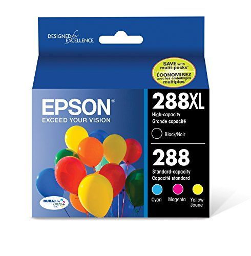 Epson Cartridge Ink, 288XL Black 288 Cyan, Magenta, Yellow Jaune, 4-Pack -  https://www.wahmmo.com/epson-cartridge-ink-288xl-black-288-cyan-magenta-yellow-jaune-4-pack/ -  - WAHMMO