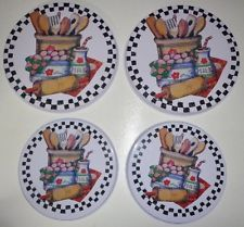 4 PIECE COUNTRY KITCHEN STOVE TOP BURNER COVERS