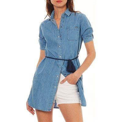 75c3a72ca Evelyn - Robe chemise - bleu jean en 2019 | style | Pepe jeans ...
