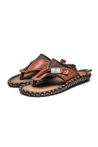 Men's Leather Handmade Flip Flops Summer Beach Slippers Shoes Sandals Brown - Intl | ราคา: ฿1,320.00 | Brand: dayiss | See info: http://www.topsellershoes.com/product/4698/mens-leather-handmade-flip-flops-summer-beach-slippers-shoes-sandals-brown-intl