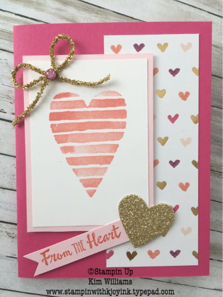 Kim Williams, Stampinwithkjoyink.typepad.com. Heart Happiness Stamp Set And  Sweet And Sassy Framelits. Valentine Card Idea With A Surprise Inside.