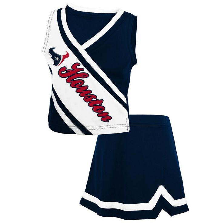 Houston Texans Preschool Girls 2-Piece Cheerleader Set - Navy Blue