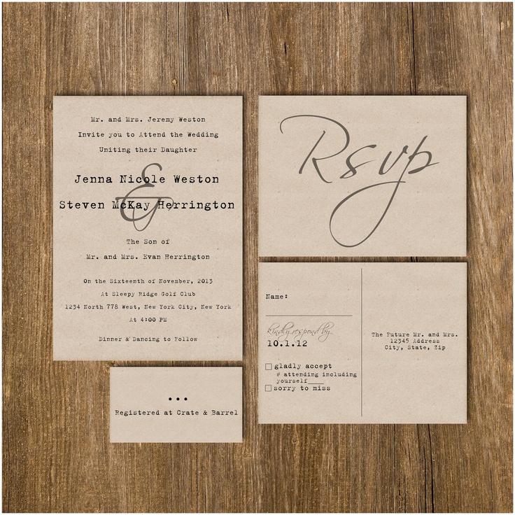 Traditional Vintage Typewriter Wedding Invitation Package DEPOSIT. $40.00, via Etsy.