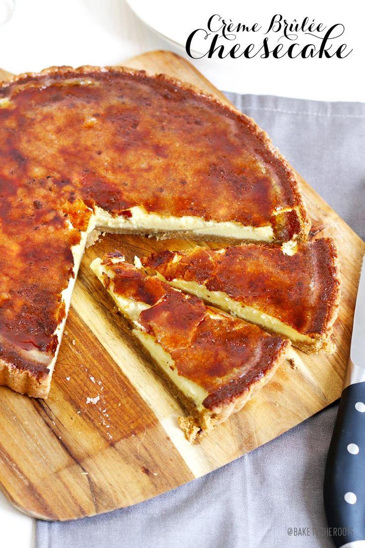 Crème Brûlée Cheesecake | Bake to the roots - Mürbe-Keks-Knusperboden mit Frischkäse-Sahne-Creme und Zuckerkruste - http://baketotheroots.de/creme-brulee-kasekuchen/