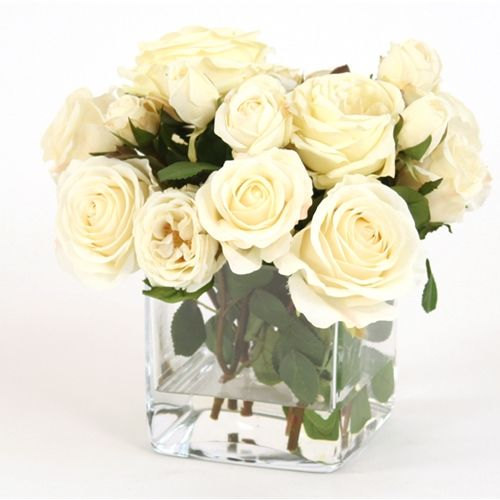 how to make fake water flower arrangements
