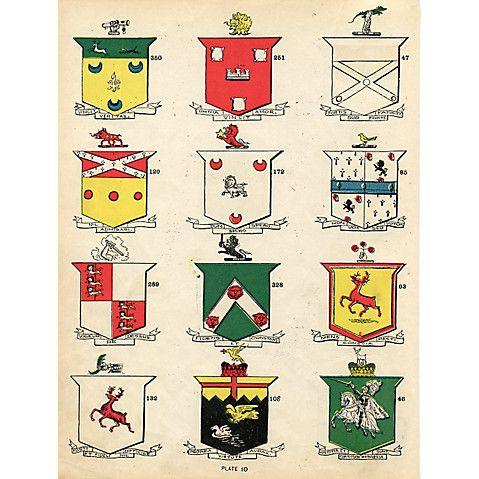 Irish Coat of Arms, 1900 $119.00