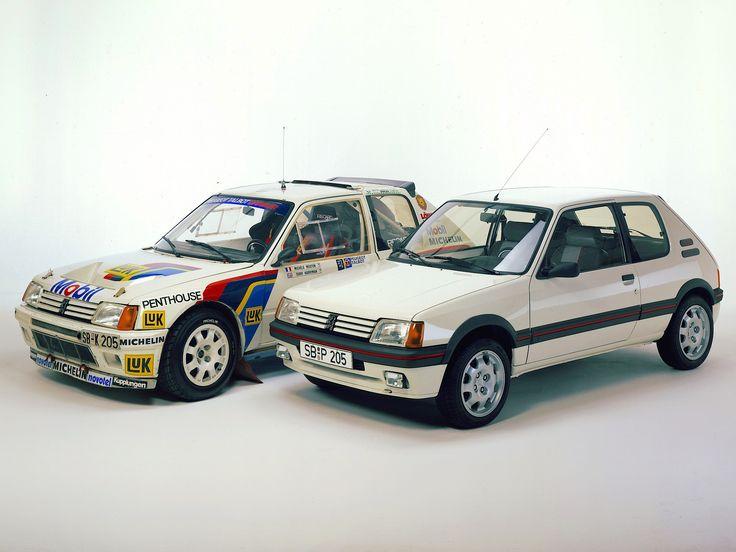 https://flic.kr/p/xzQHmU | 1984 Peugeot 205 T16 Group B Rallye & 1984 Peugeot 205 GTi