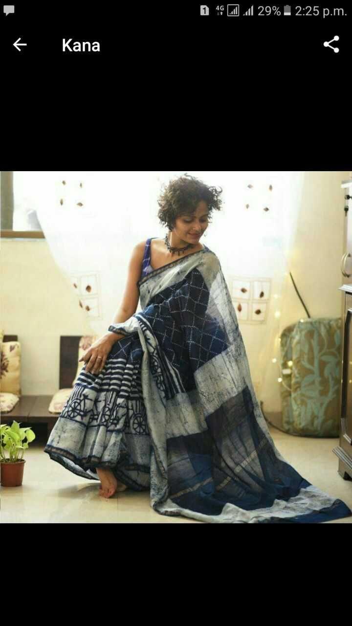 Exclusive new hand block printed silk cotton indigo print sarees