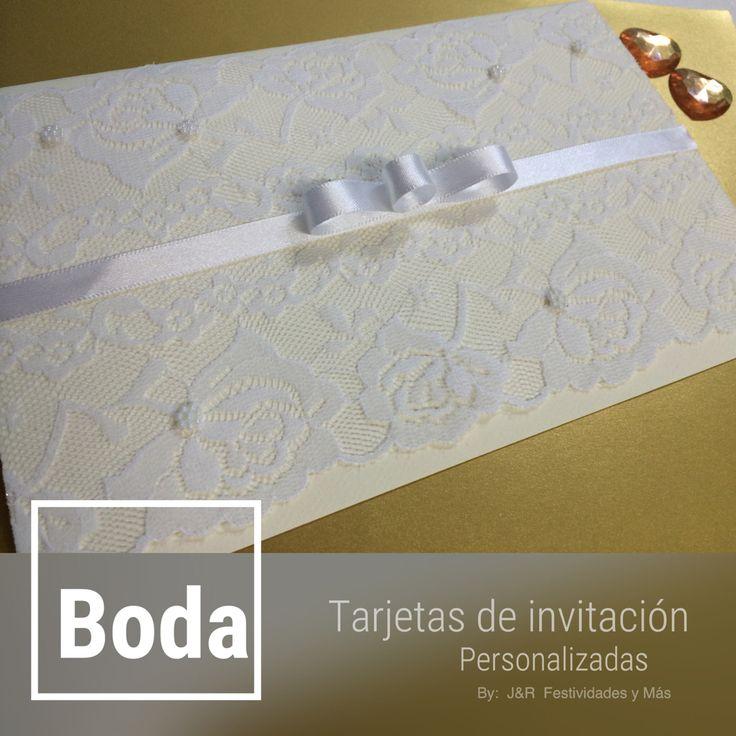 Tarjetas de invitación de bodas