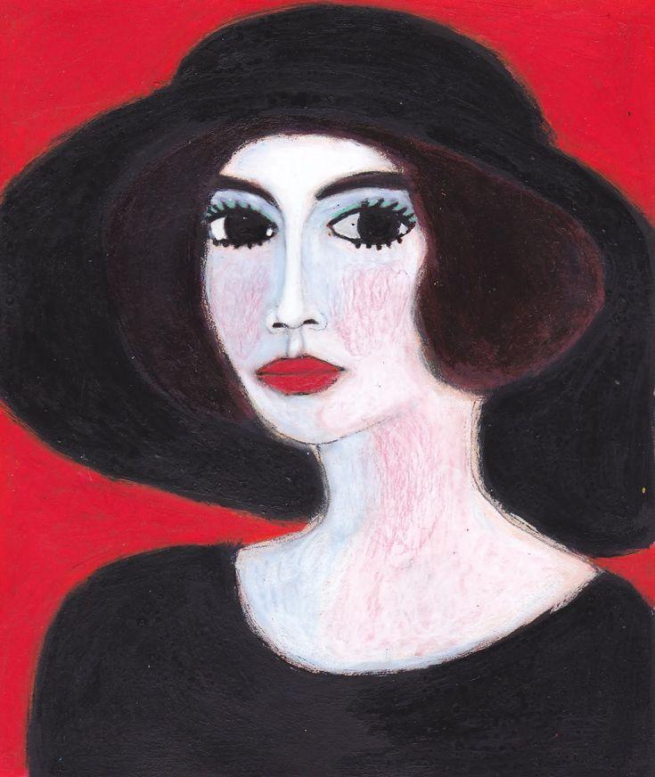 Kees Van Dongen ☞No, Hannah Barnes The American Widow (wears a big black hat) (2010)
