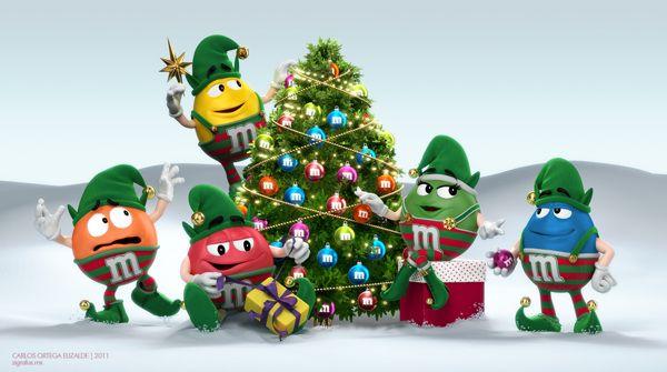 M m 39 s christmas scene by carlos ortega elizalde via - Mm screensaver ...
