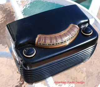 "*American*Radio*Design* - Greg Mercurio - Deco-Mid Century, Retro Styled Vintage Tube Radios   : Philco 49-900  ""The Hippo"" or the smiling face."