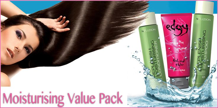 Get your Moisture Value PACK and SAVE 30% Now ONLY $39.95 375 Replenish Shampoo 375 Replenish Conditioner 200ml Smoothe n Grume Get it here ->