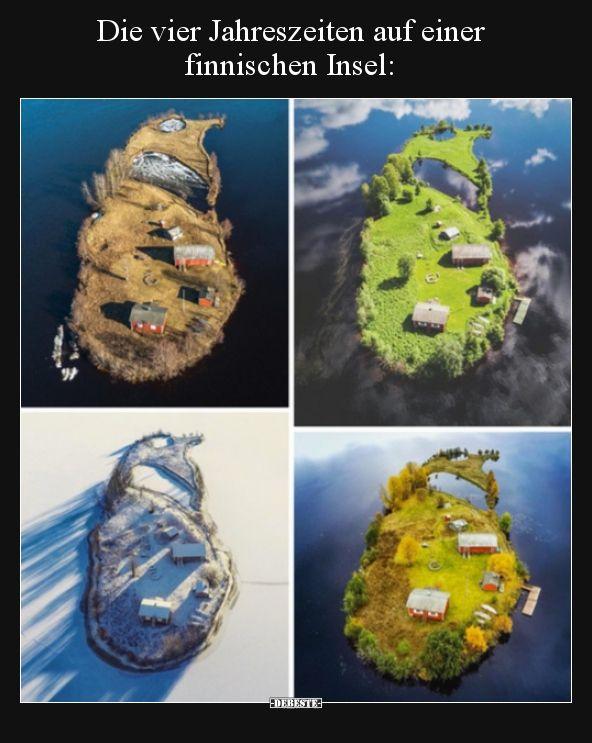 Die vier Jahreszeiten auf einer finnischen Insel..