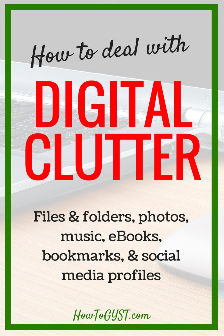Digital decluttering of computer files & social media profiles. How to do a digital detox & free up storage space.