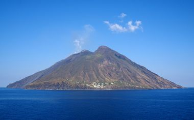 Stromboli is one of the most active volcanoes on Earth and has been erupting almost continuously since 1932. Description from italytraveltours.eu. I searched for this on bing.com/images