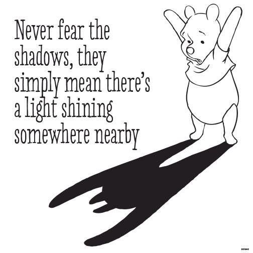 Never fear the shadows..