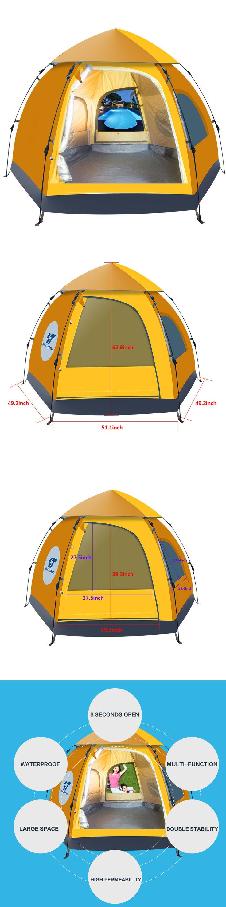 Tent and Canopy Accessories 36120: 5-6 People Waterproof Automatic Outdoor Instant Pop Up Tent Camping Hiking Tent -> BUY IT NOW ONLY: $69.99 on eBay!