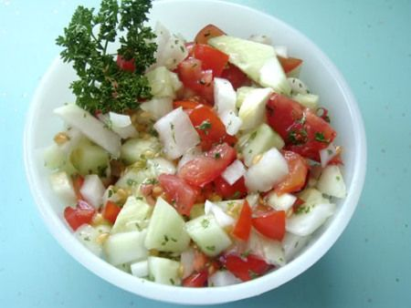 Marinated Cucumbers and Tomatoes-hopefully I'll make this with veggies from the garden soon!