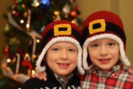 Crochet Santa Hats free pattern!