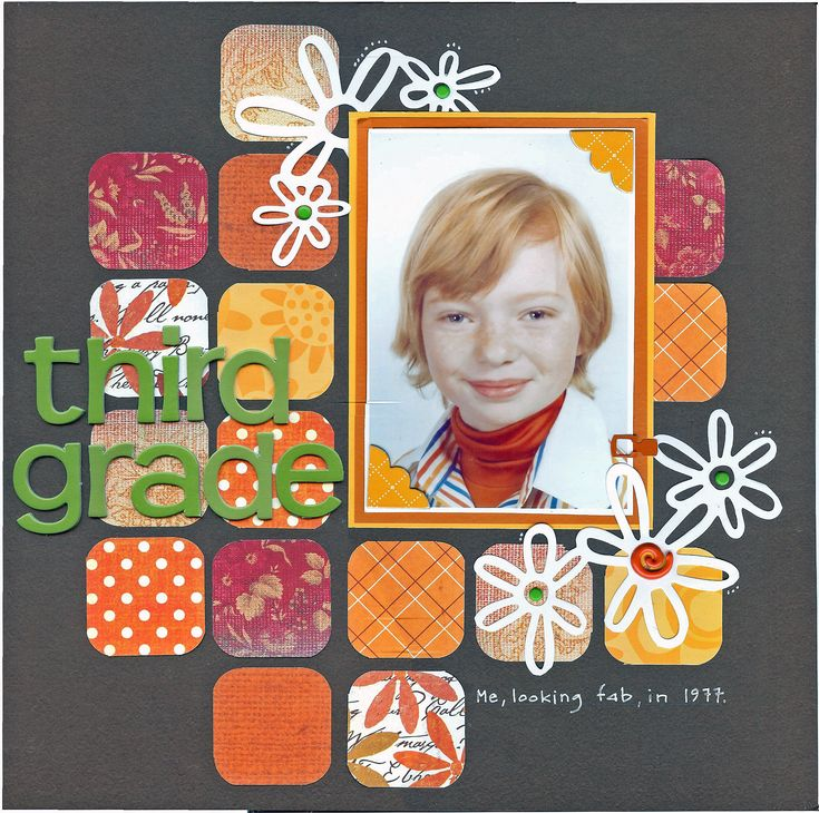 #papercraft #scrapbooking #layout Love the colors-perfect for 60s/70s photos