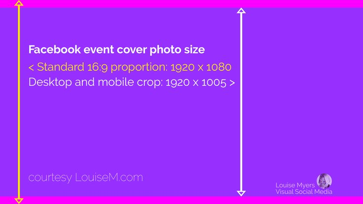 What's the correct Facebook event image size? It differs from both Fan Page and personal profile. Make yours look great everywhere with this FREE template!