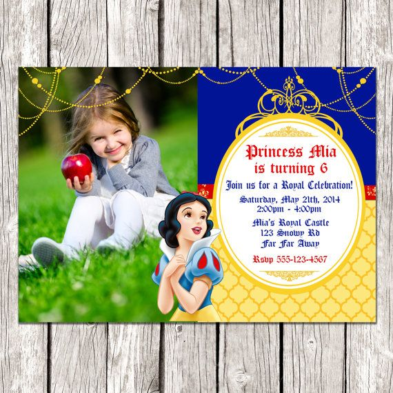 Hey, I found this really awesome Etsy listing at https://www.etsy.com/listing/188937955/snow-white-photo-invitation-snow-white
