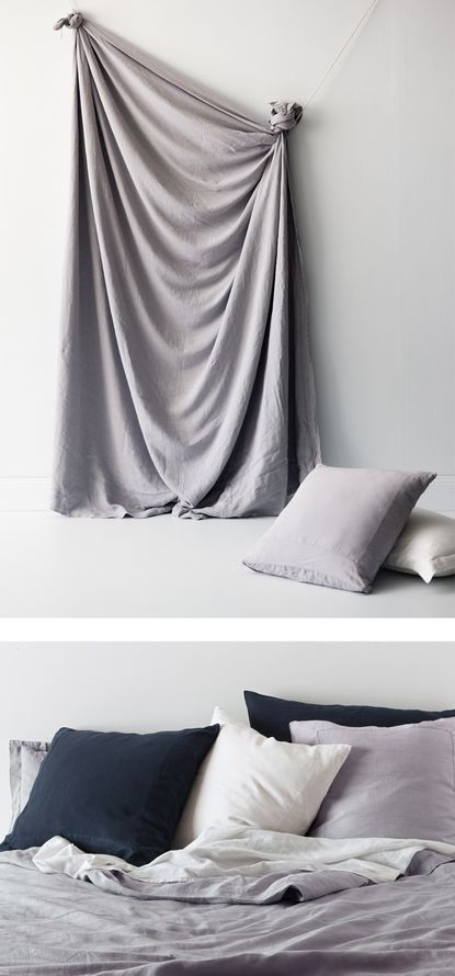 Natural Linen Luxury Quilt Sets- In The Sac