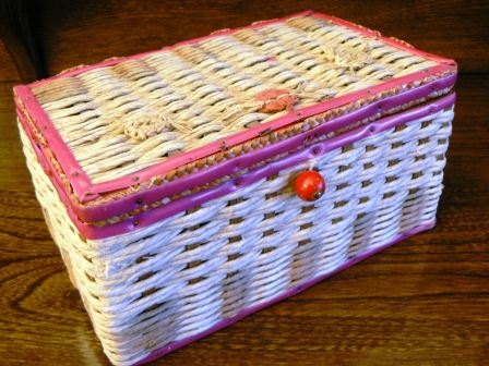 vintage sewing  med sized VINTAGE SEWING Woven by WritersCraftToo, $15.00