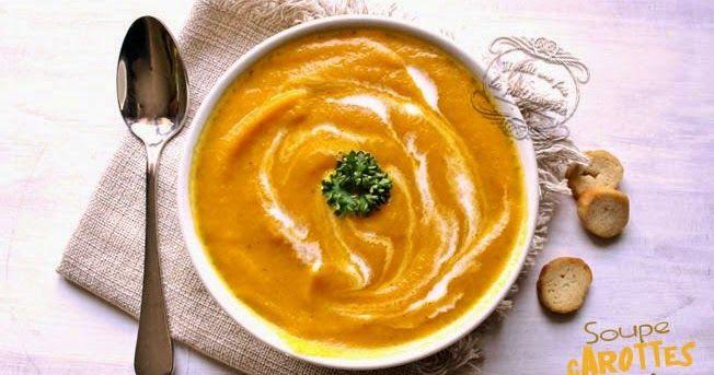 """Non, non, vous ne vous êtes pas trompés, vous êtes bien sur """"Il était une fois la pâtisserie"""" et c'est bien une recette de soupe carotte ..."""