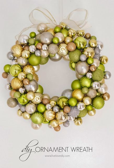 How to make a Christmas ornament wreath for less than $10!