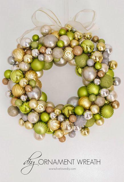 How to make a Christmas ornament wreath | LiveLoveDIY