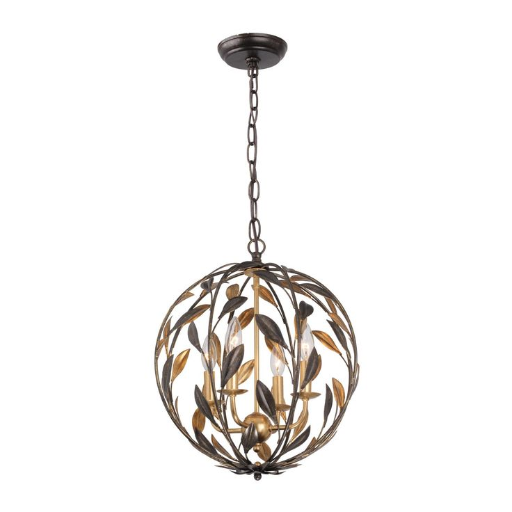 Crystorama Lighting Group 504-EB-GA Broche 4-Light Foyer Light - Lighting Universe- kitchen