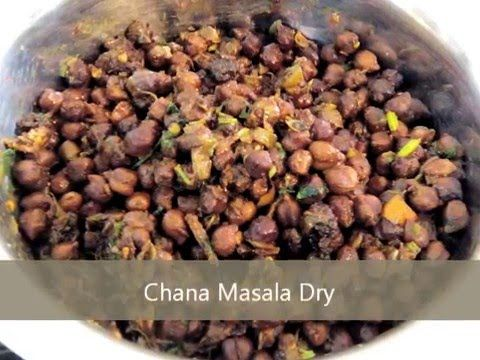 Chana Masala dry - Garbanzo beans recipe - by Taste INDIA