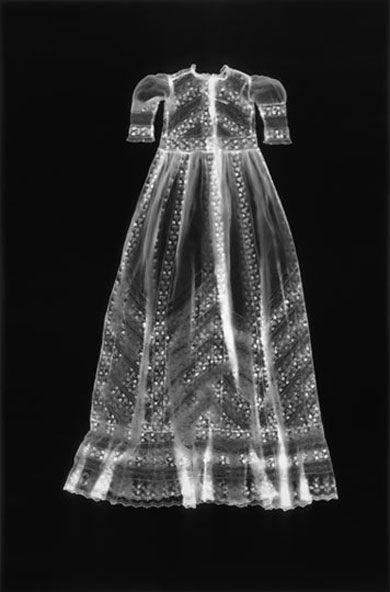 Untitled (Dress) from Adam Fuss' My Ghost series, 1997. Unique gelatin silver photogram. Photo via Nomenus Quarterly...