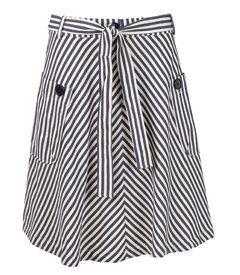 stribet nederdel