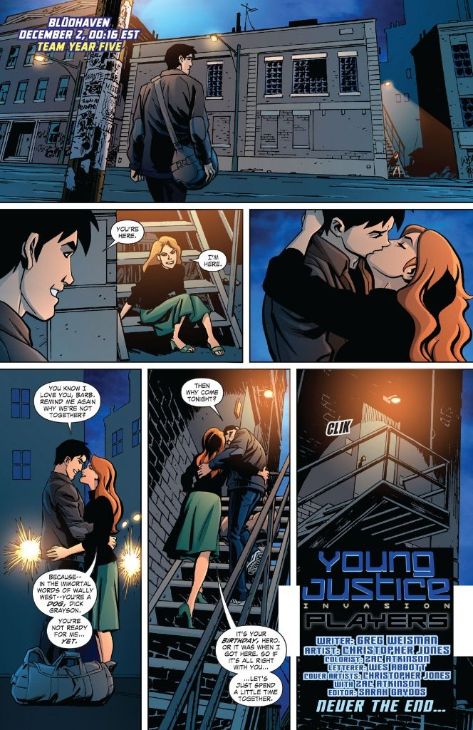 The closest to a perfect ending there's ever been in any comic. (Young Justice #25 Weisman/Jones)